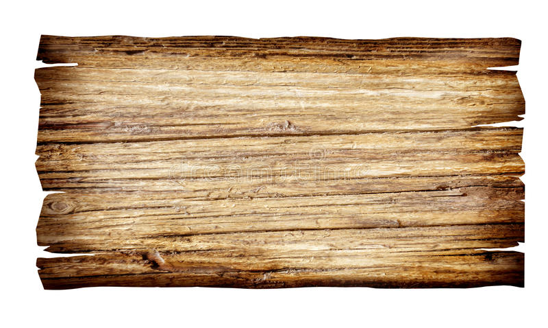 Fermez-vous vers le haut d'un signe en bois vide image libre de droits