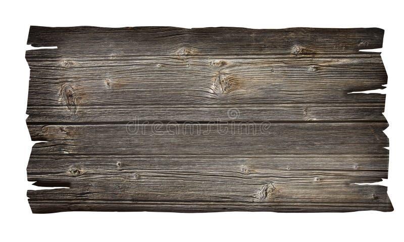 Fermez-vous vers le haut d'un signe en bois vide photo libre de droits