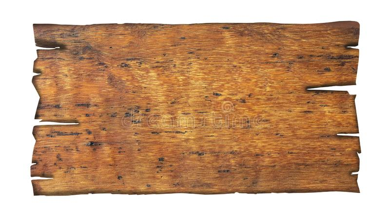 Fermez-vous vers le haut d'un signe en bois vide images libres de droits