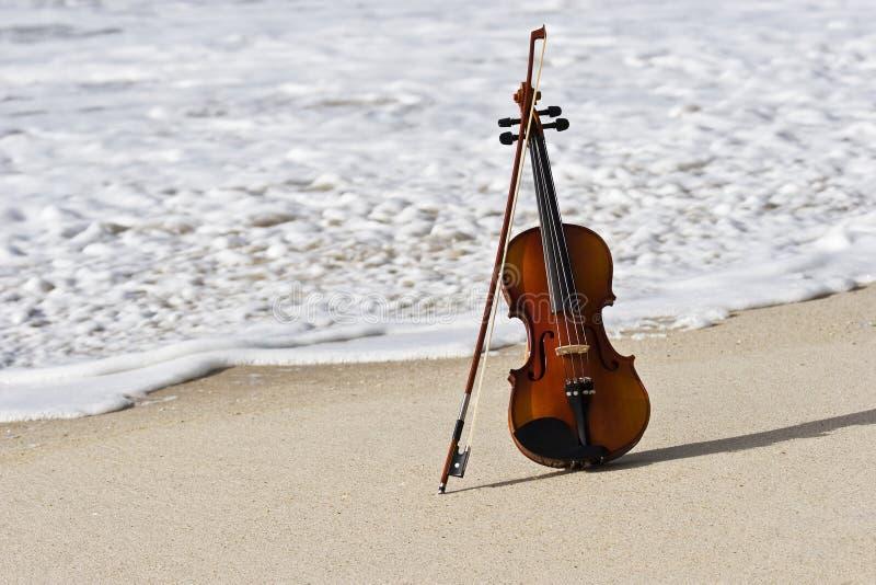 Fermez-vous vers le haut d'un violon et du bord de la mer atlantique photo libre de droits