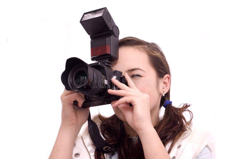 Fermez-vous vers le haut d'une jolie photographie de fille images libres de droits