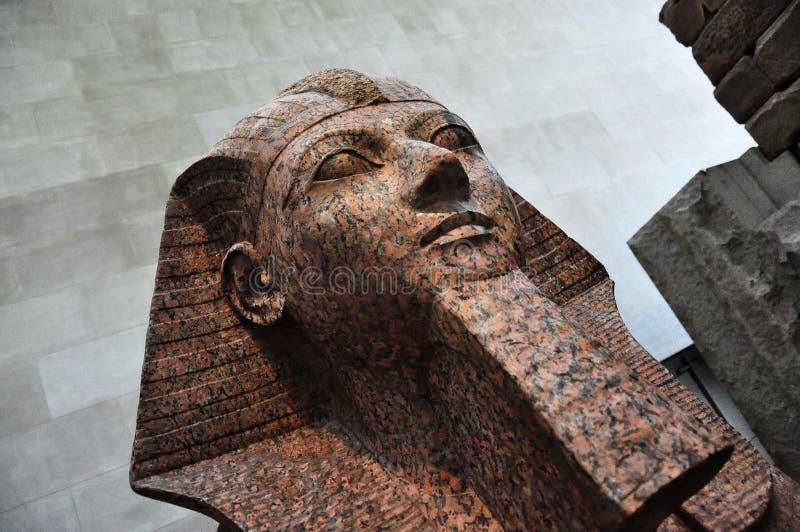 Fermez-vous vers le haut d'une tête de sphinx photographie stock
