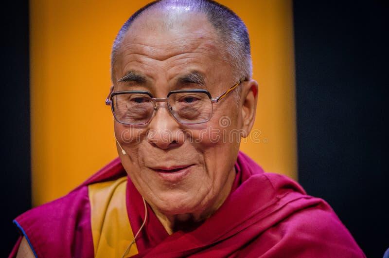 Fermez-vous vers le haut de Dalai Lama image libre de droits