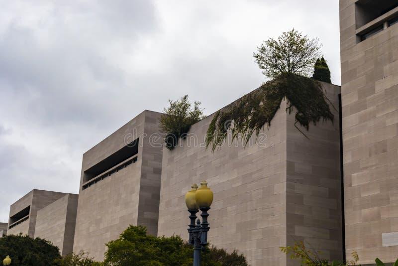 Fermez-vous vers le haut de l'air national de Smithsonien et du musée d'espace photo libre de droits