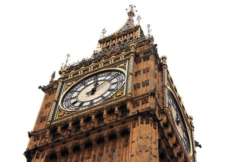 Fermez-vous vers le haut de l'horloge célèbre Londres R-U du Parlement de grand Ben Westminster image stock