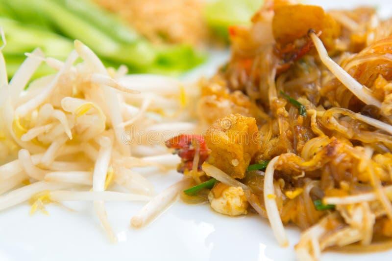 Fermez-vous vers le haut de l'image de la protection thaïlandaise de nourriture thaïlandaise images stock