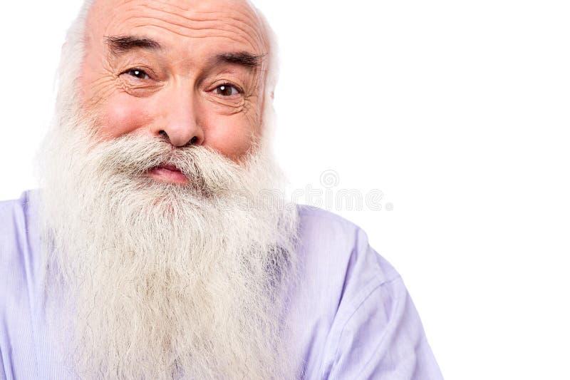 Fermez-vous vers le haut de l'image du visage de vieil homme photos stock