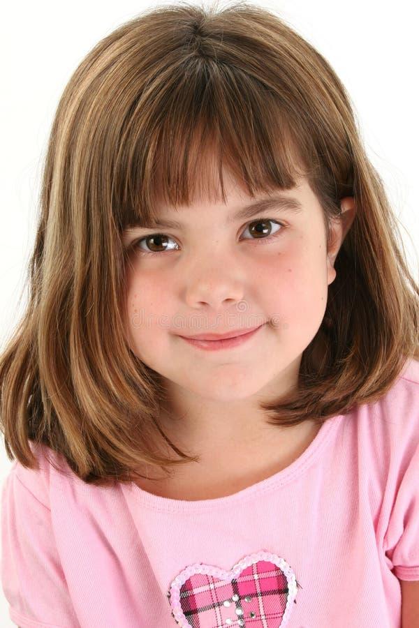 Fermez-vous vers le haut de la belle vieille fille de cinq ans photo stock