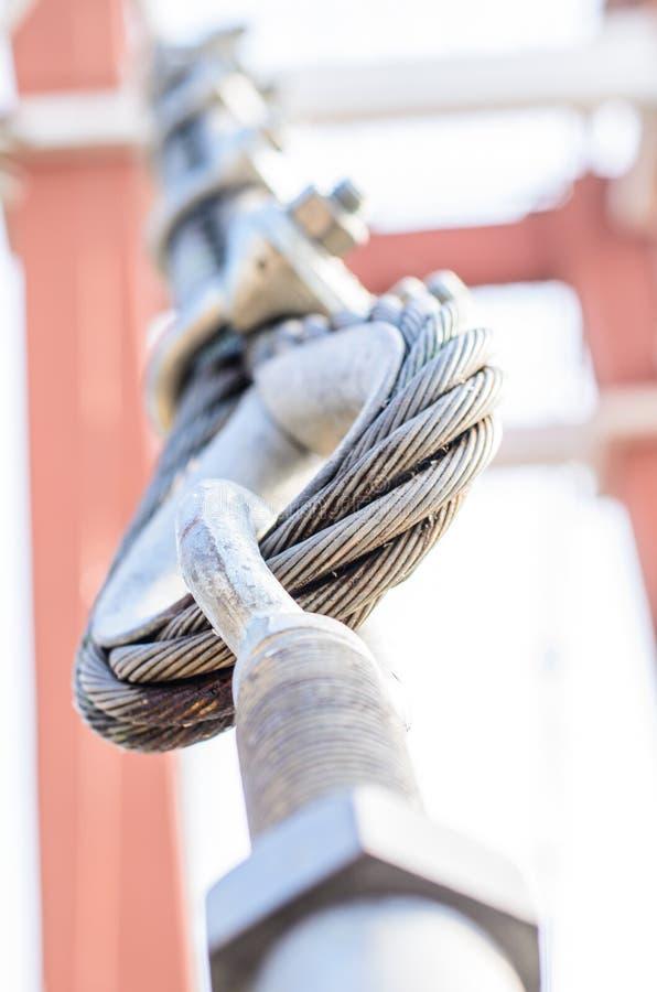 Fermez-vous vers le haut de la bride pour le pont suspendu photos libres de droits