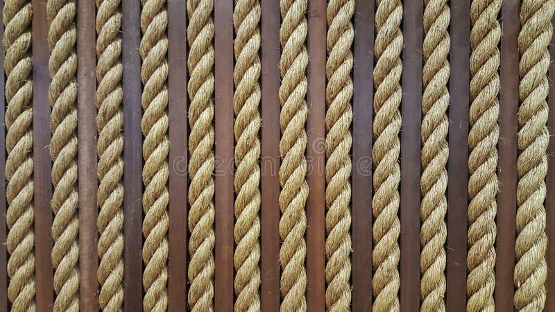 Fermez-vous vers le haut de la corde approximative jaune pour la texture Backgroud images libres de droits