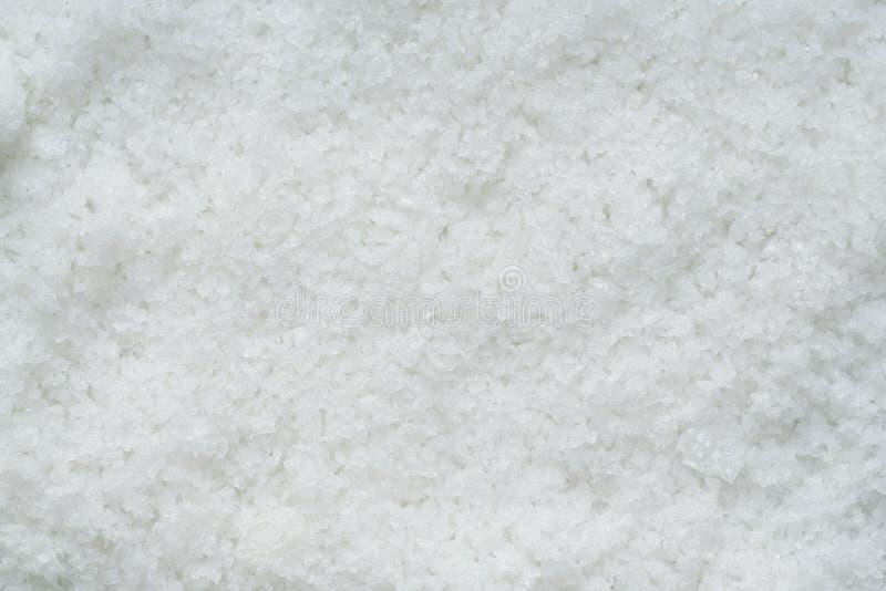 Fermez-vous vers le haut de la fleur des cristaux de sel de mer image stock