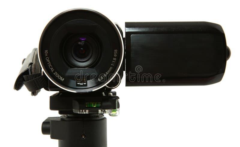 Fermez-vous vers le haut de la lentille de caméscope photographie stock libre de droits