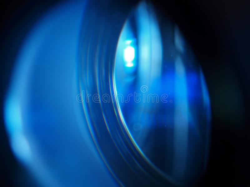 Fermez-vous vers le haut de la lentille menée de projecteur images stock