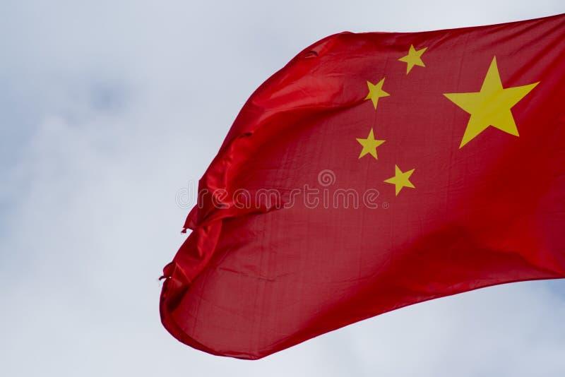 Fermez-vous vers le haut de la photo abstraite du drapeau chinois avec cinq stards jaunes photo stock