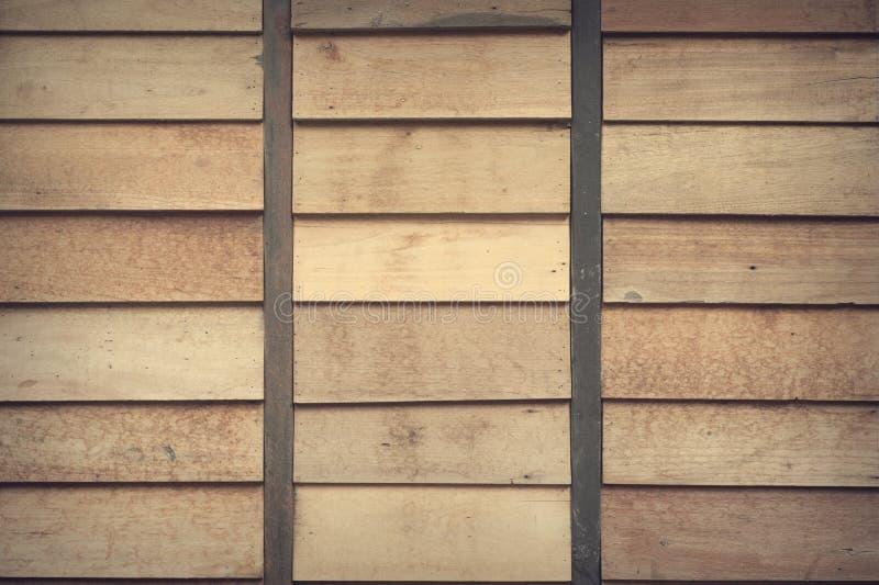 Fermez-vous vers le haut de la photo des planches en bois de Brown photo stock