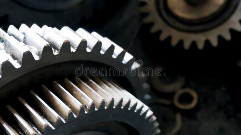 Fermez-vous vers le haut de la roue de vitesse tournent le concept pièce de rechange de voiture de véhicule photographie stock libre de droits