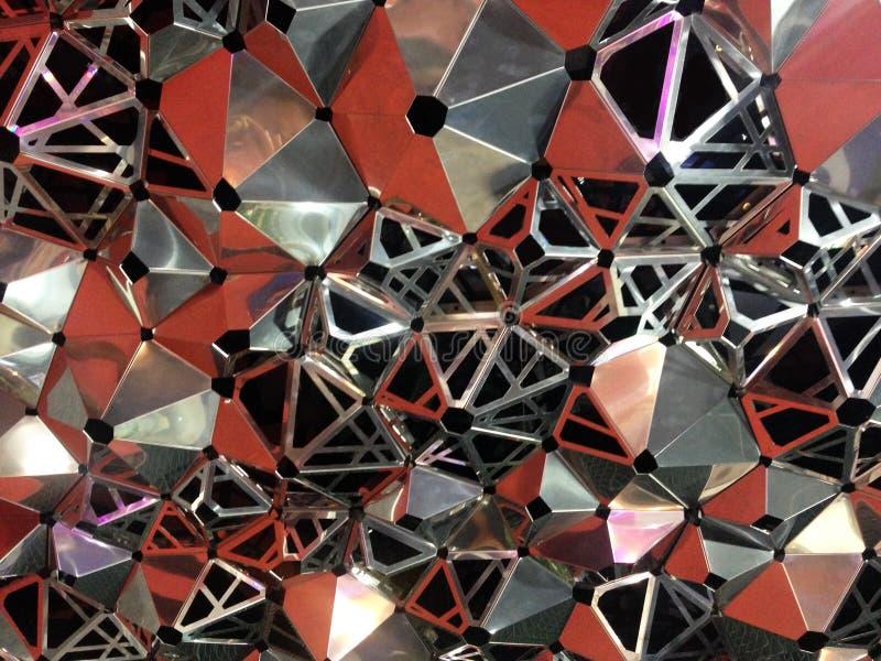 Fermez-vous vers le haut de la ruche abstraite d'abeille, fond d'hexagone image stock