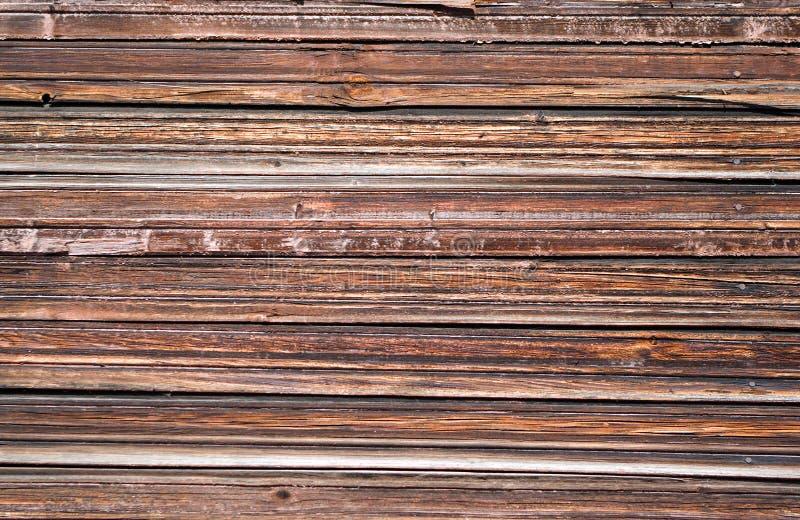Fermez-vous vers le haut de la vue du mur en bois image stock