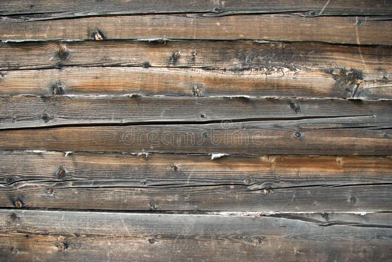 Fermez-vous vers le haut de la vue du mur en bois photographie stock libre de droits