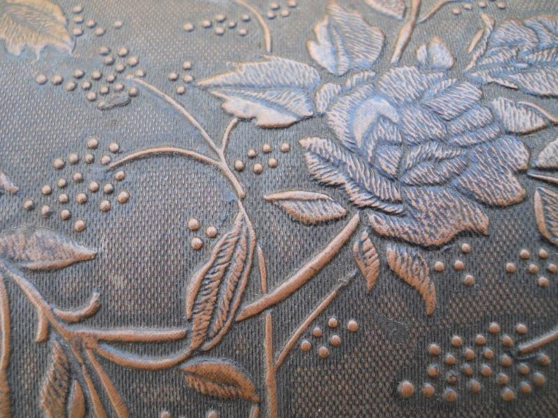 Fermez-vous vers le haut de Rose de relief par texture photos stock