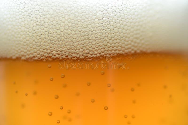 Fermez-vous vers le haut des baisses d'une pinte glacée de bière images libres de droits