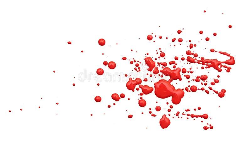 Fermez-vous vers le haut des baisses rouges de peinture photographie stock