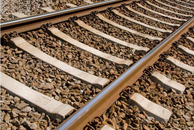 Fermez-vous vers le haut des voies de chemin de fer image stock