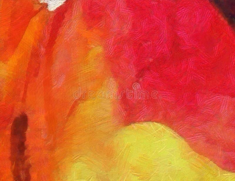 Fermez-vous vers le haut du fond d'abrégé sur peinture à l'huile Traçage texturisé d'art illustration stock