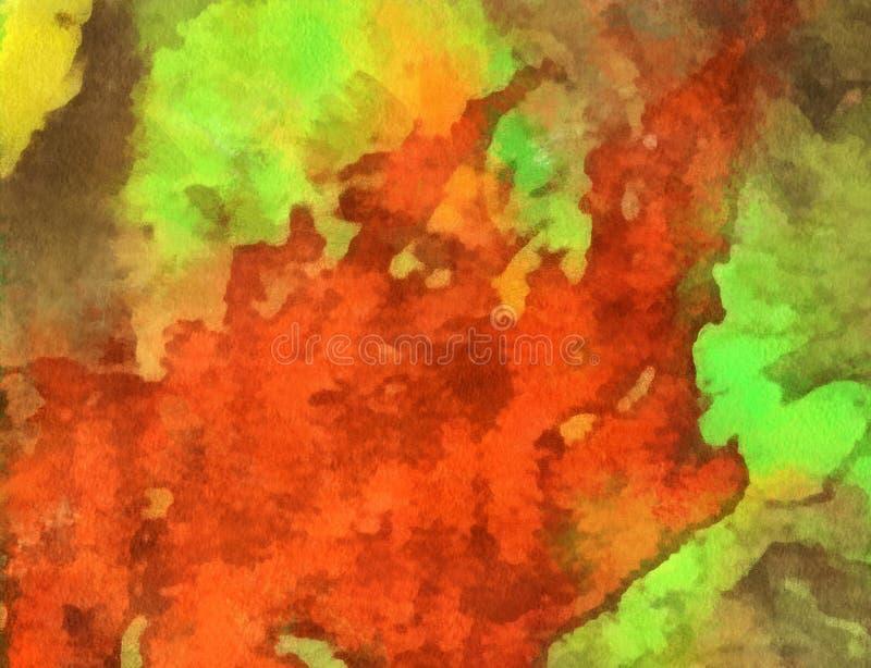 Fermez-vous vers le haut du fond d'abrégé sur peinture à l'huile Traçage texturisé d'art illustration libre de droits