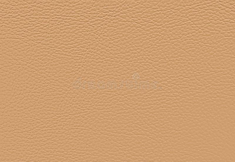 Fermez-vous vers le haut du fond de la texture en cuir beige images libres de droits
