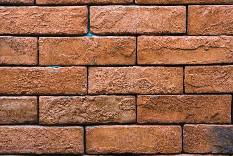 Fermez-vous vers le haut du fond de mur de briques photos libres de droits