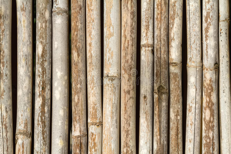 Fermez-vous vers le haut du fond en bambou de barrière dans le ton brun image stock