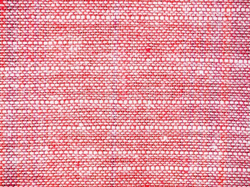 Fermez-vous vers le haut du fond rouge et blanc de modèle de tissu photographie stock