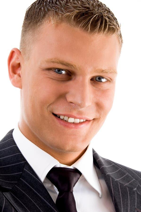 Fermez-vous vers le haut du mâle beau de sourire photographie stock libre de droits