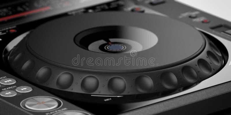 Fermez-vous vers le haut du mélangeur du DJ images libres de droits