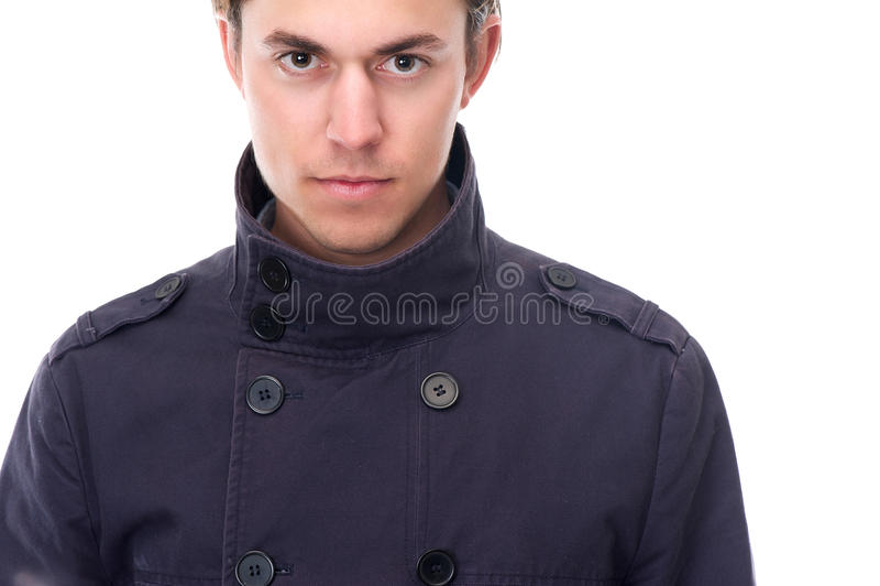 Fermez-vous vers le haut du portrait d'un jeune homme élégant photo libre de droits