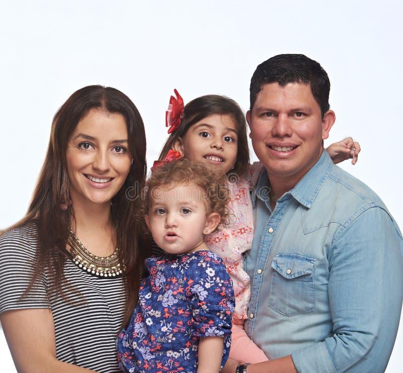 Fermez-vous vers le haut du portrait de la jeune famille images stock
