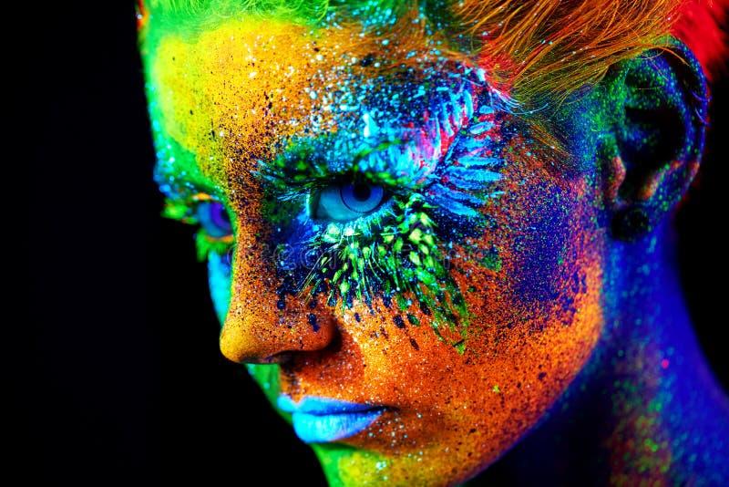 Fermez-vous vers le haut du portrait UV images libres de droits