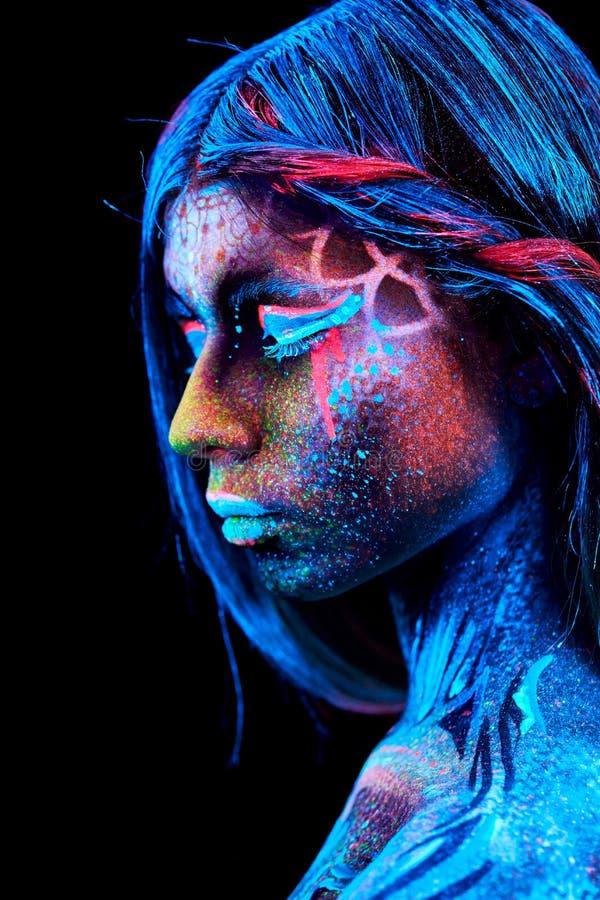 Fermez-vous vers le haut du portrait UV images stock