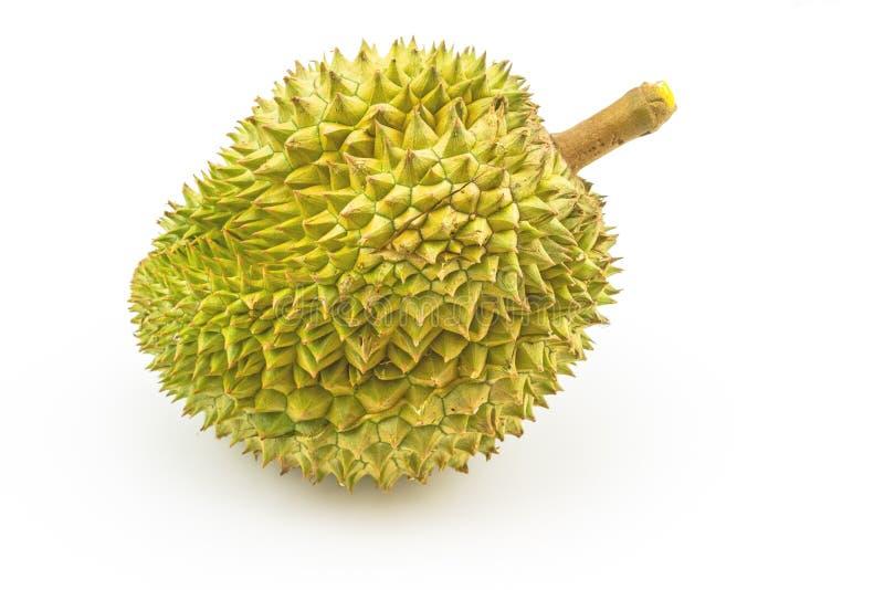 Fermez-vous vers le haut du roi des fruits, durian d'isolement sur le fond blanc photographie stock