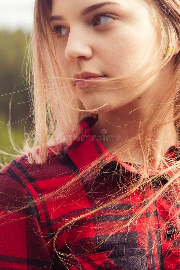 Fermez-vous vers le haut du tir d'une fille photo stock