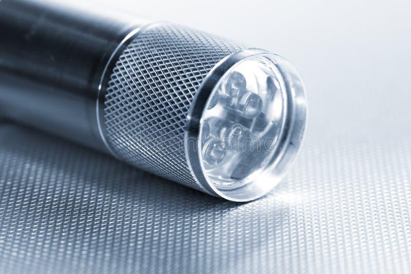 Fermez-vous vers le haut du tir de la lumière de torche de LED photographie stock libre de droits