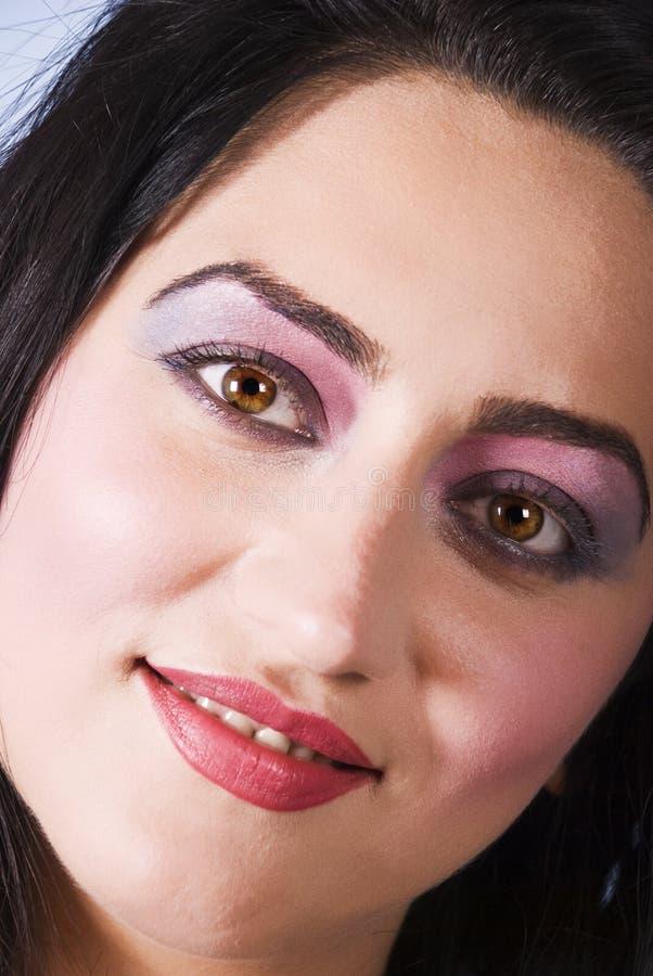 Fermez-vous Vers Le Haut Du Visage De Femme Photos libres de droits