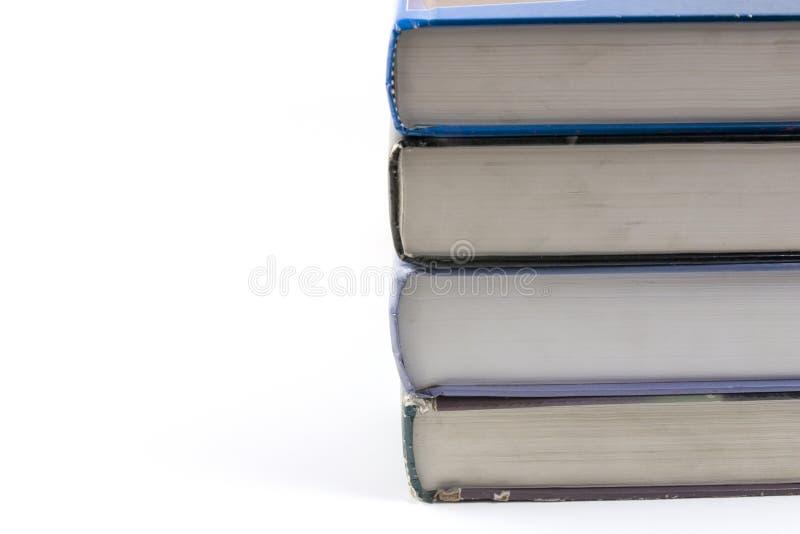 Fermez-vous vers le haut sur de vieux livres photo stock