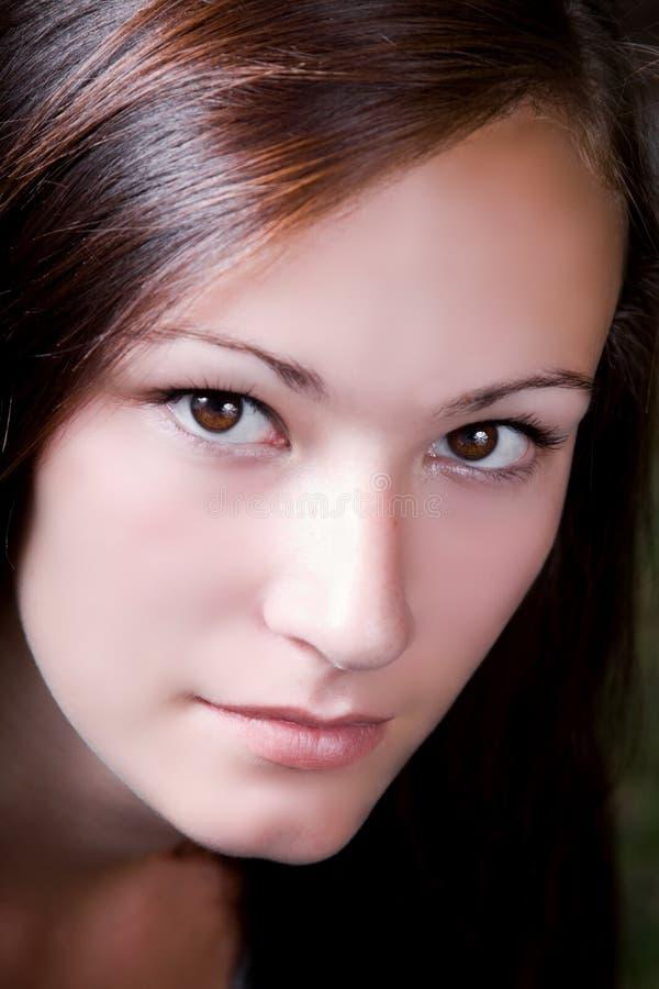 Fermez-vous vers le haut sur une adolescente photos libres de droits