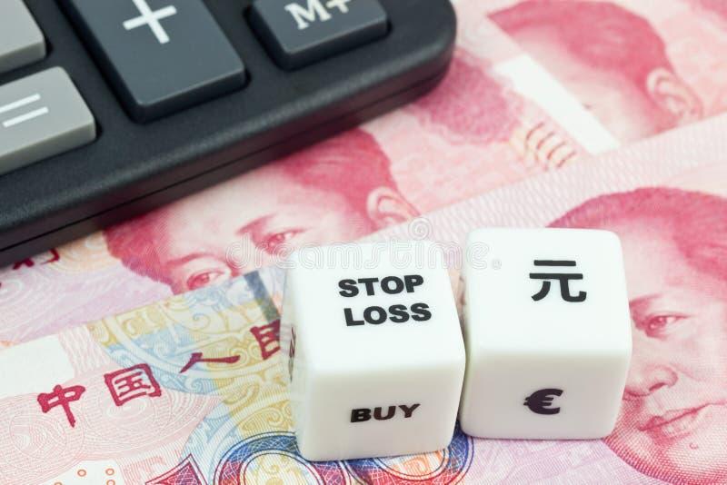 Fermi gli yuan di cinese di perdita immagine stock libera da diritti