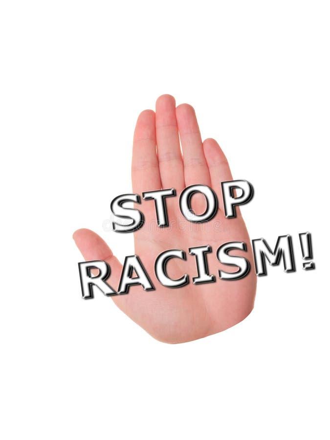 Fermi il concetto del razzismo royalty illustrazione gratis