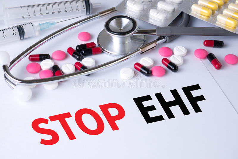 Fermi il EHF (febbre emorragica di ebola) immagini stock