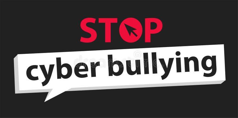 Fermi il fondo di cyberbullismo illustrazione di stock