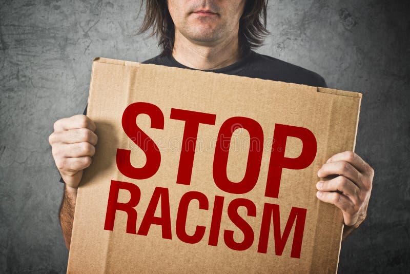 Fermi il messaggio del razzismo fotografia stock libera da diritti